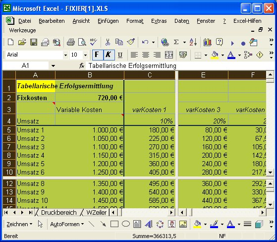 Excel Arbeitsblatt Teilen : Excel funktion fenster teilen